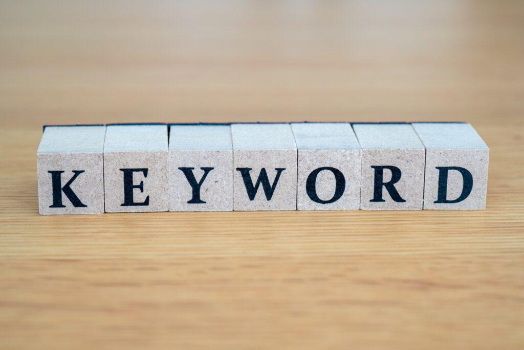 KEYWORD文字のブロック